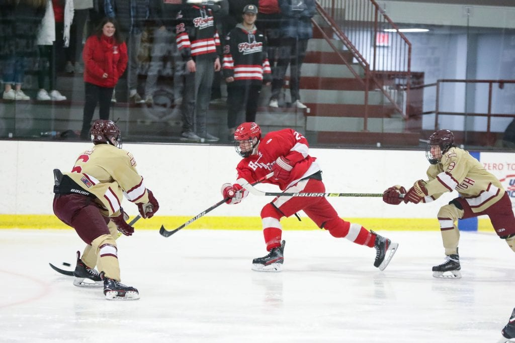 Hingham played BC High in the 2019 Super 8 Tournament.  In 2010, Hingham won the Super 8.