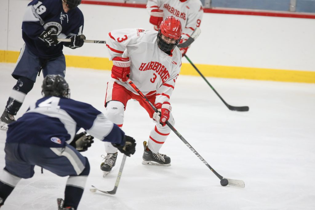 Senior Lars Osterberg was active all night and assisted on Corbett's goal.