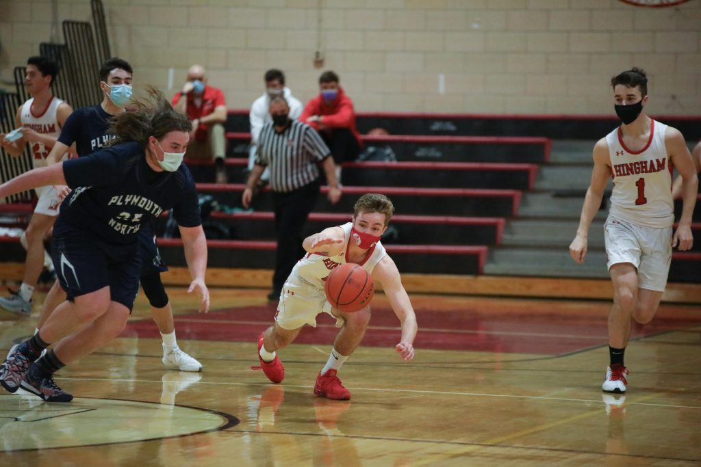Senior captain Jack Hurley lays out for a loose ball before leaving the game with an injury.