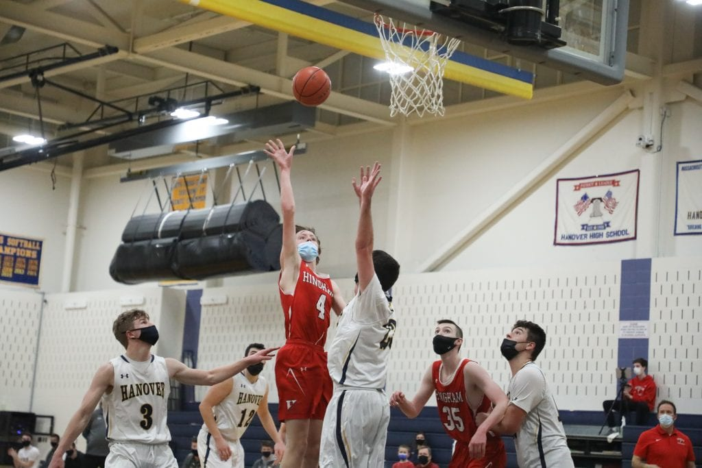 Junior Nick Johannes had 12 in the game including this floater.