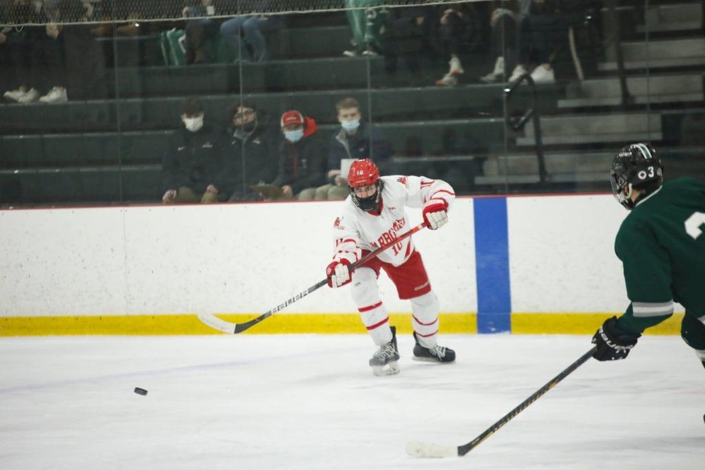 Junior defensemen Drew Carleton with two goals on the day.