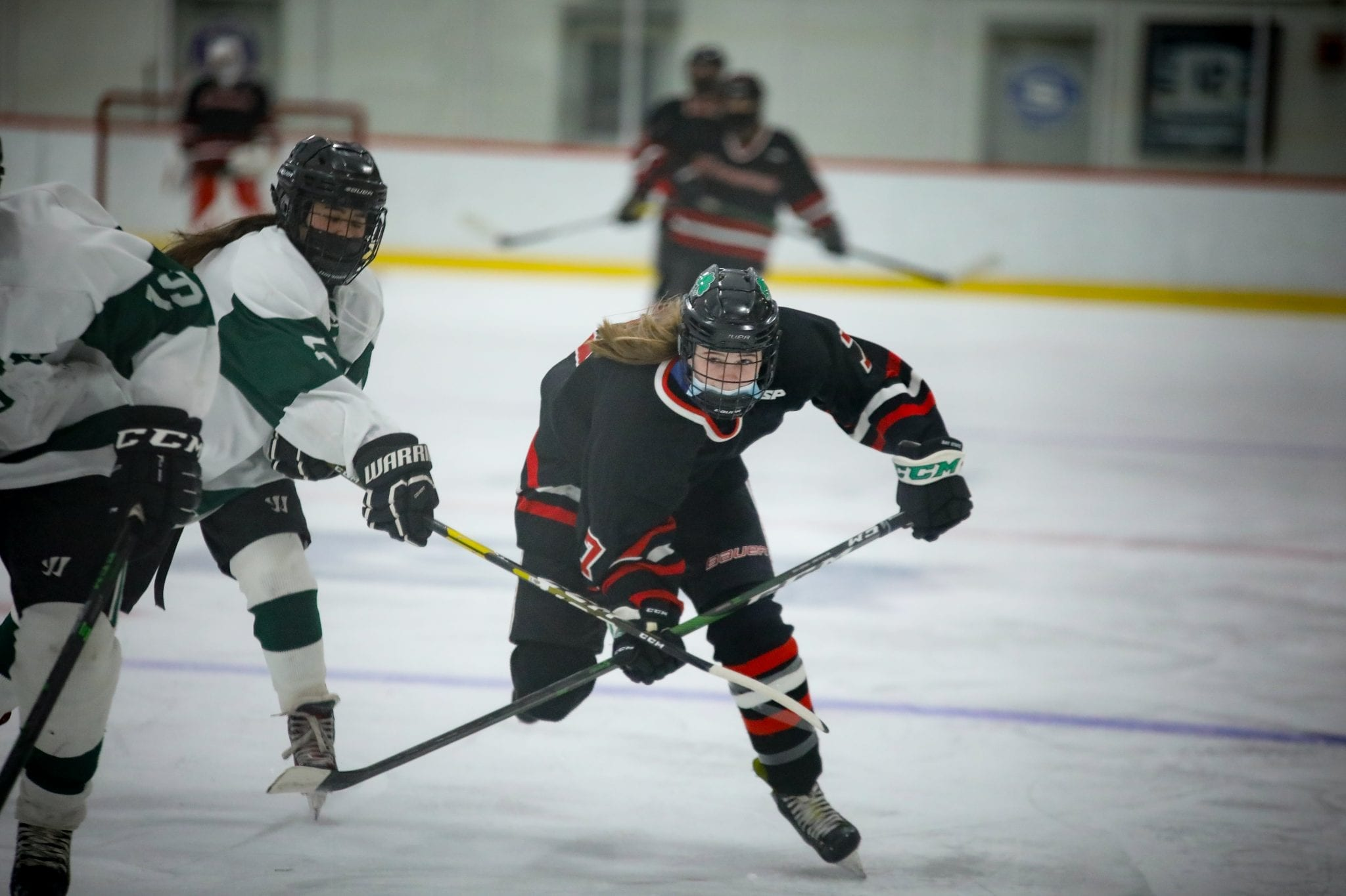 8th grader Caroline Doherty is part of the bright future of HHS girls hockey.