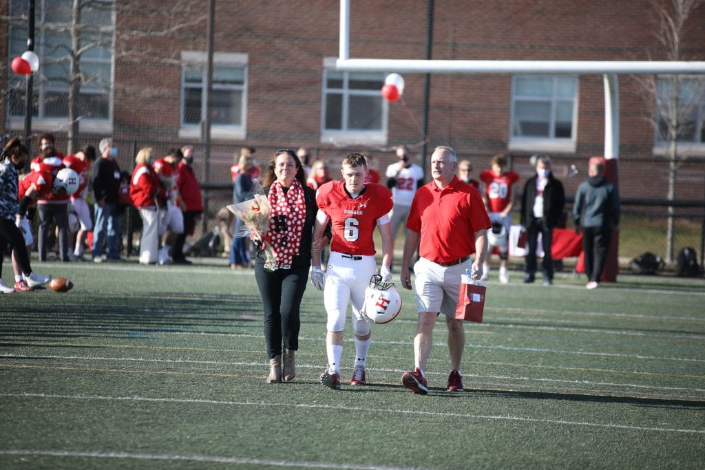 Drew Kenn and his parents Michelle and Russ.