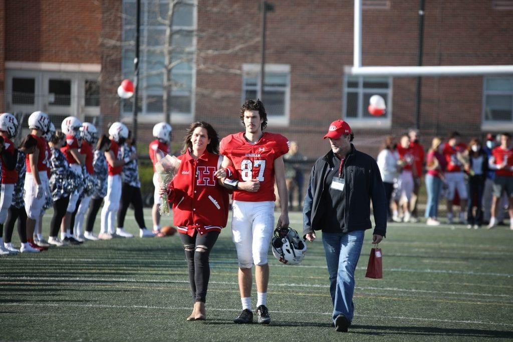 Cameron Vidal and his parents Maria and Rick.
