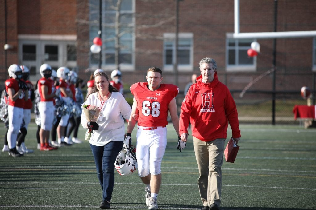 Captain Dan Hannon and his parents Kelley and Mike.