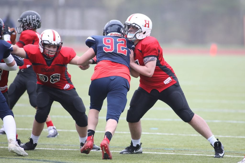 Linemen Brian Magner and Owen Cline were two of the front five making plays all game long.