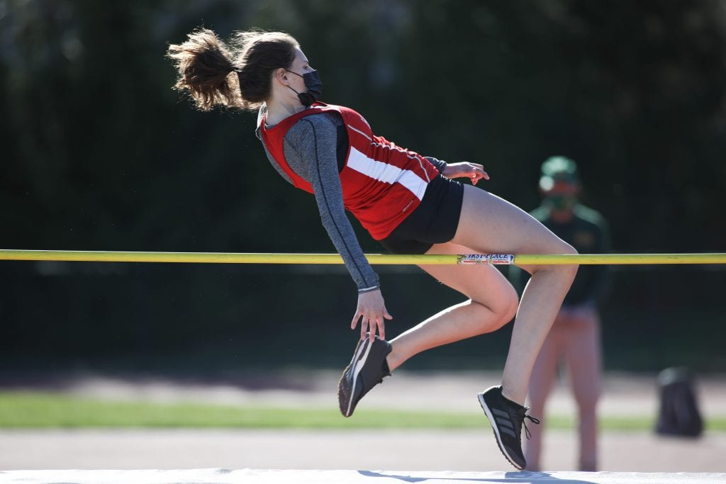 Junior Camille Boer placed third in the high jump.