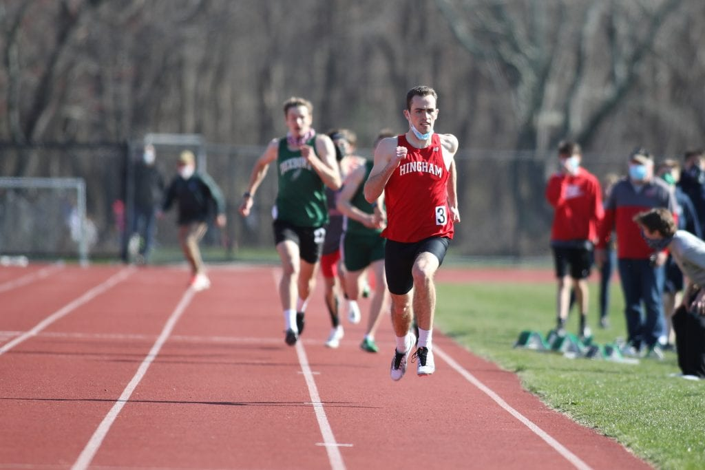 Senior captain Sean McKay takes first place in the 600m.