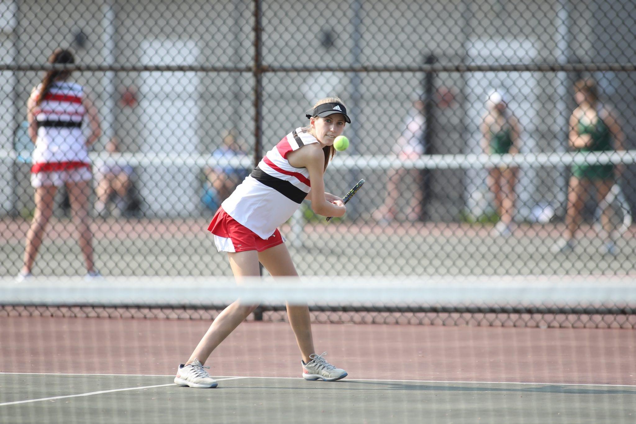 Katelyn Erickson beat her opponent in straight sets.