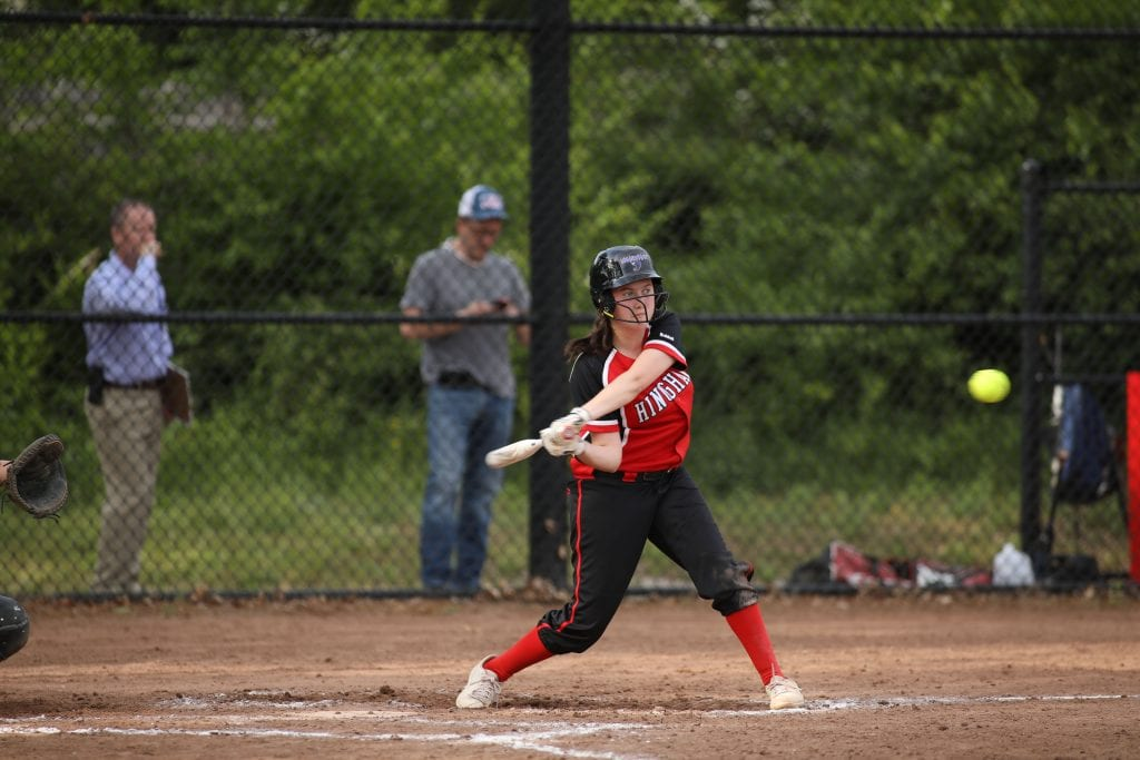 Junior Amy Maffei lines kept the rally going with a base hit in the third.