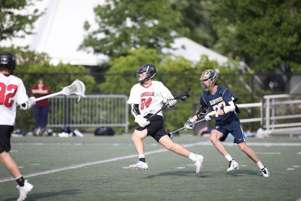 Senior Alex Rabschnuk gets past a defender before getting shot off.
