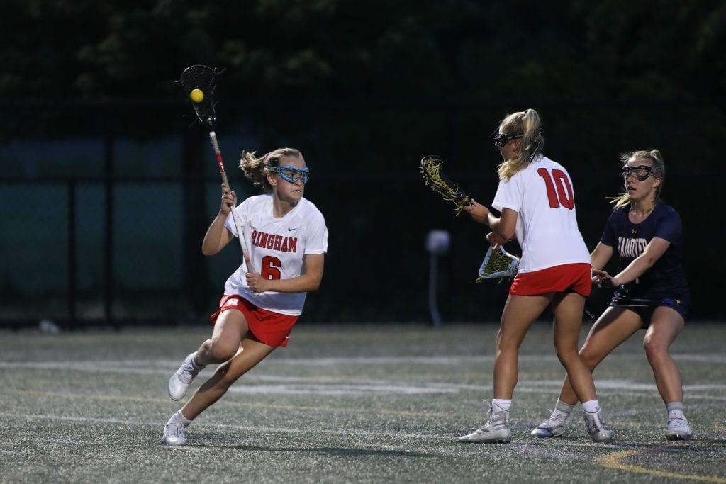 Sophomore Lily Ehler had some big goals throughout the game.