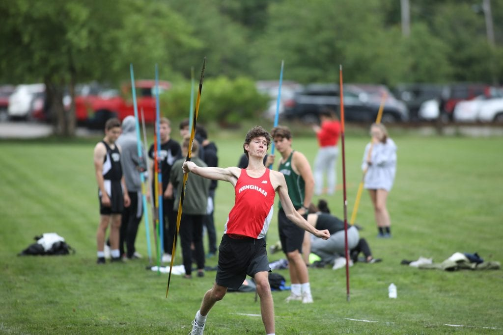 Junior Ian Grady with an 11th place finish in the javelin.