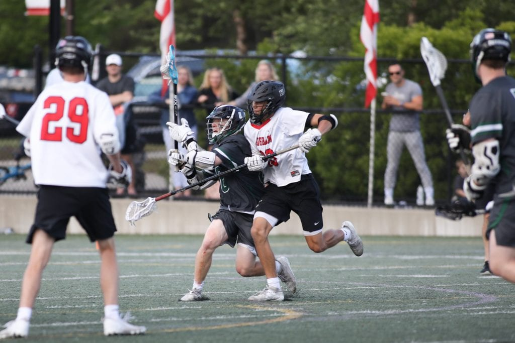 Junior Owen Hoffman with great defense in the final seconds of the game.