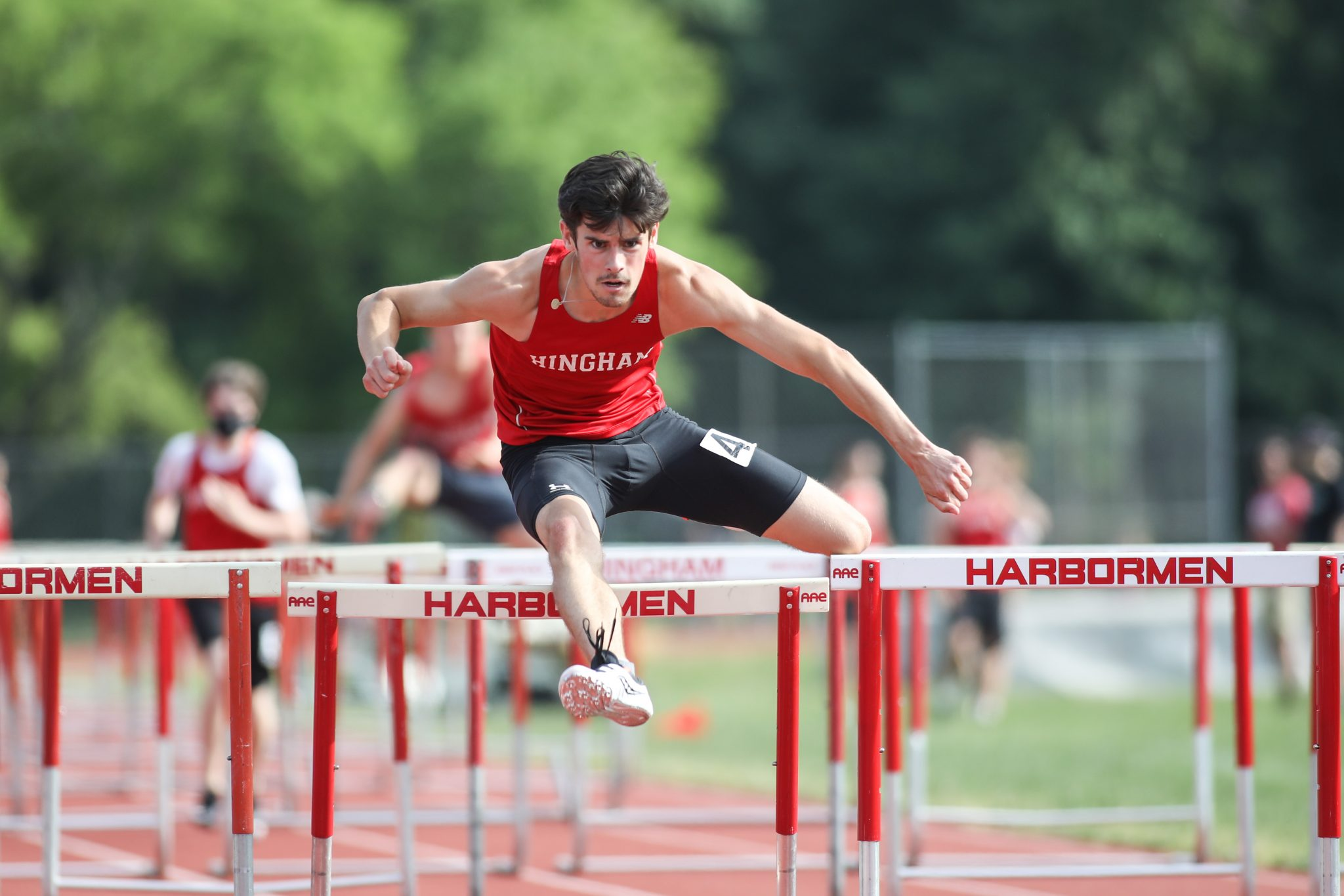 Senior captain Brian Fennelly captured first place in the 110m hurdles in the Division 1 South Sectionals. (File photo)