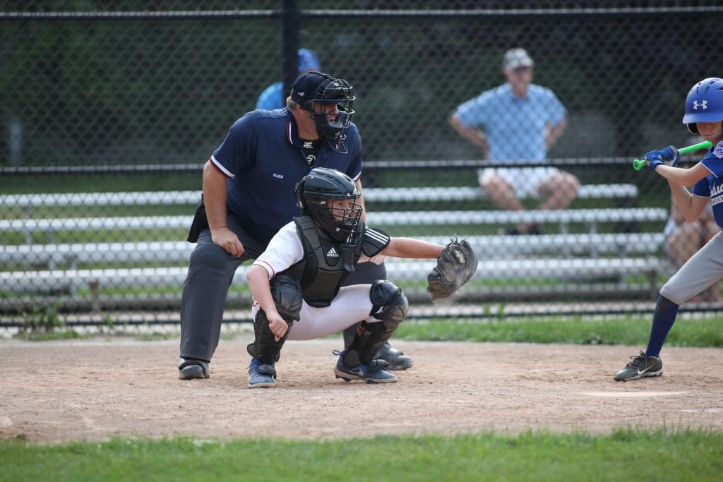 Catcher CJ Taylor was solid behind the plate.