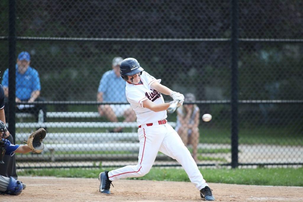 Dan Nichols smacks a base hit.