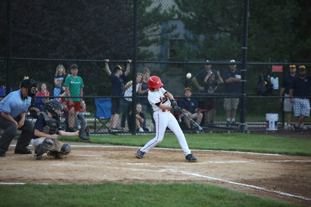 Michael Blanchard with a base hit.