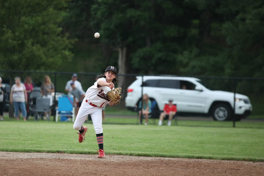 Brendan McCarthy with the throw over to first for the last out of the game.