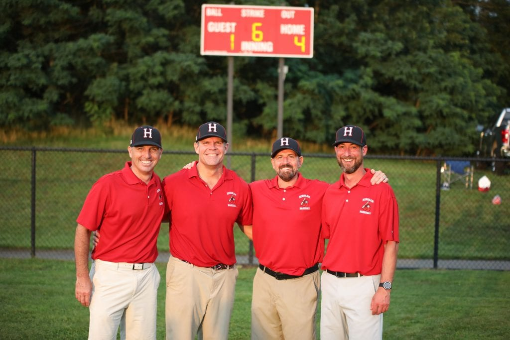 Coach Chris Bohane, Coach Chris Taylor, Coach Howie Levy, and Coach Billy McCarthy