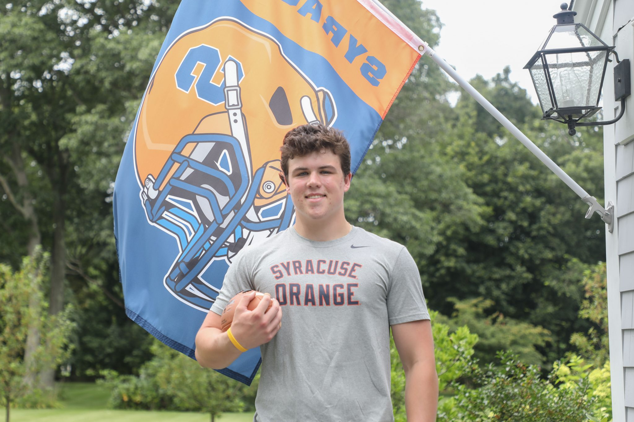 20/21 HHS football captain John O'Connor getting ready to head up to Syracuse to play for the Orange.