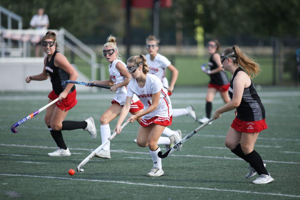 Sophomore Stella Brazis out runs the defense.