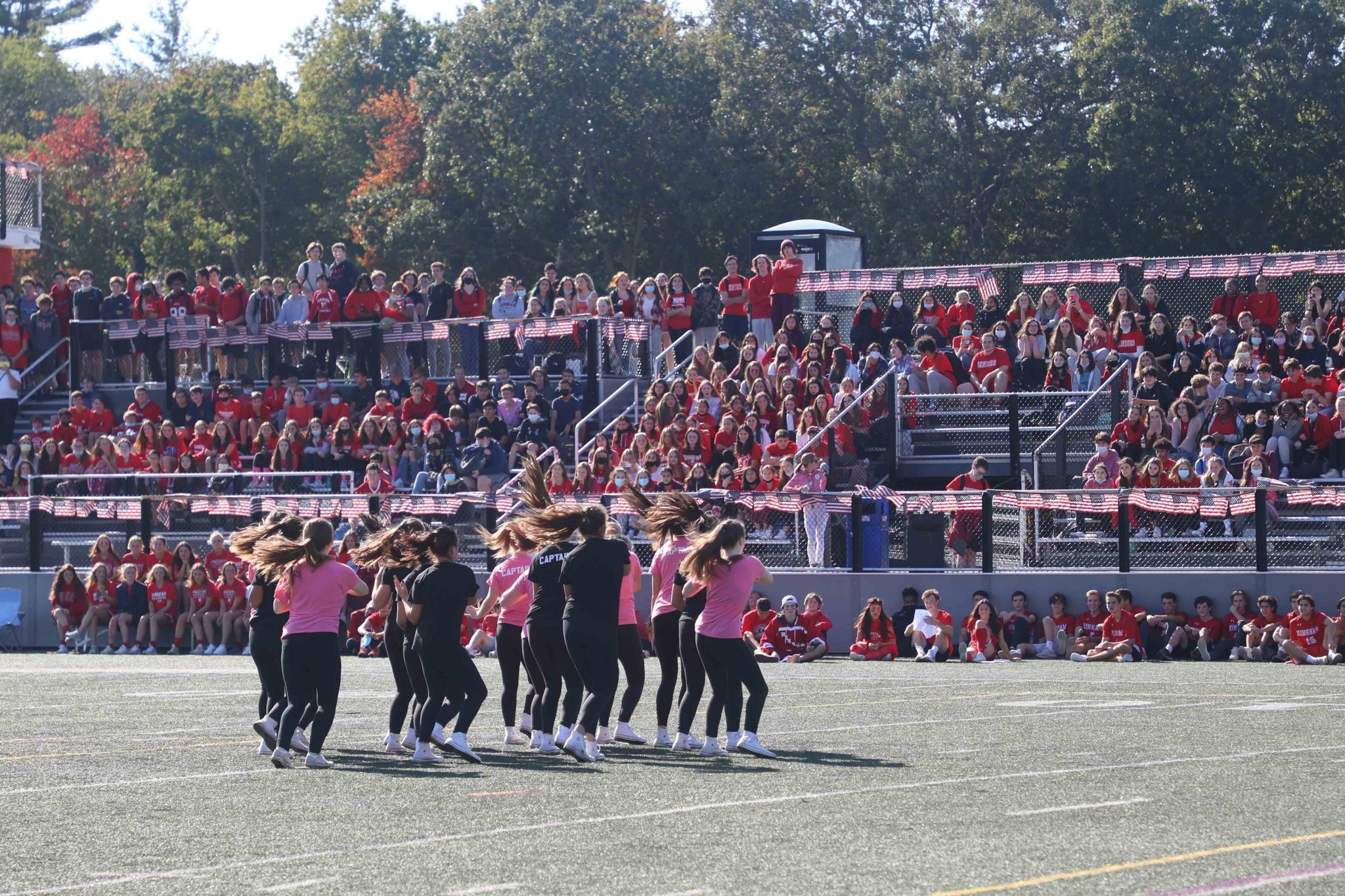 Homecoming kicked of Friday afternoon with a school wide pep rally in the high school stadium.