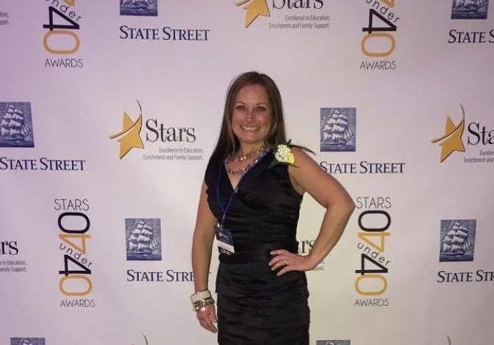 Liz Klein at the South Shore 40 under 40 awards.